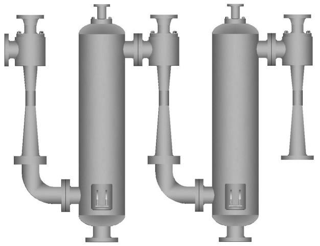 Three-stage steam ejector series