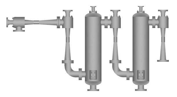 Four-stage steam ejector series
