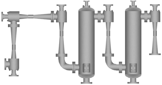 Five-stage steam ejector series