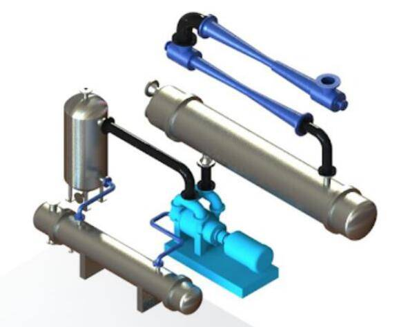 Steam ejector in vacuum crystallization system