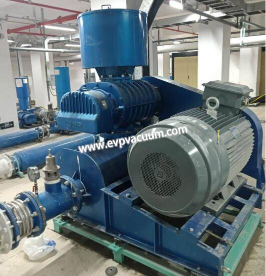 Roots blowers used in aquaculture of fish, shrimp farm