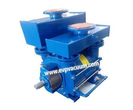 Liquid ring vacuum pump is used for ethylene glycol vapour in falling film vacuum evaporation