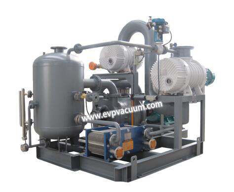 a roots pumpand liquid ring pump will be installed to work together