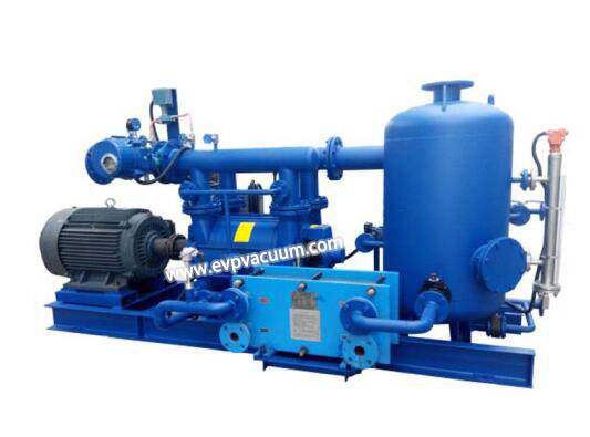 Liquidring vacuum systemIn Building material steam recovery