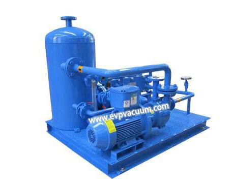 Liquid ring vacuum pump in mineral water degassing process
