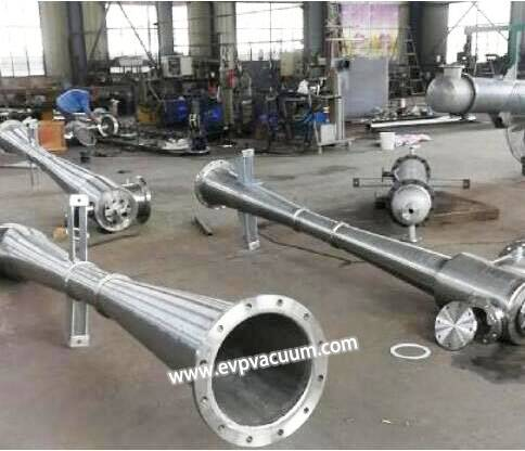 Steam ejector vacuum pump for vacuum distillation tower of oil refinery