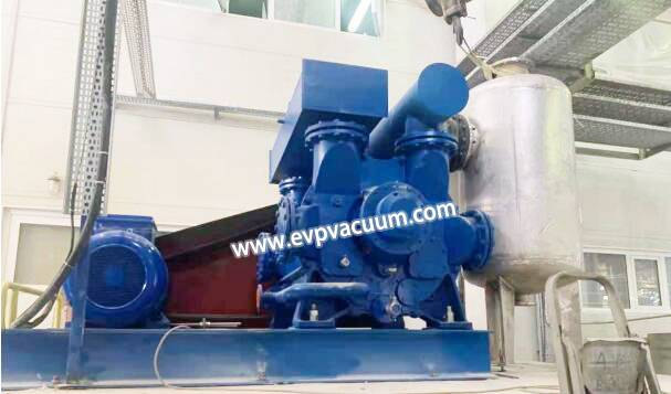 water ring vacuum pump in vacuum belt filter of application
