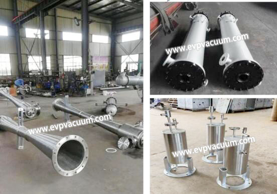 steam jet in evaporation system of application