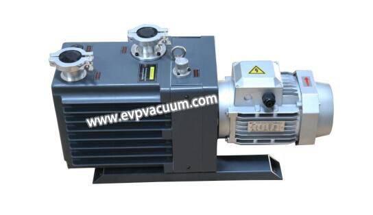 Oil type rotary vane vacuum pump -- direct drive and belt type drive