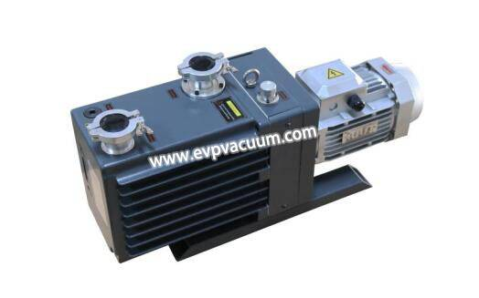 Two-stage oil rotary vane pump for hydrogen peroxide plasma sterilizer